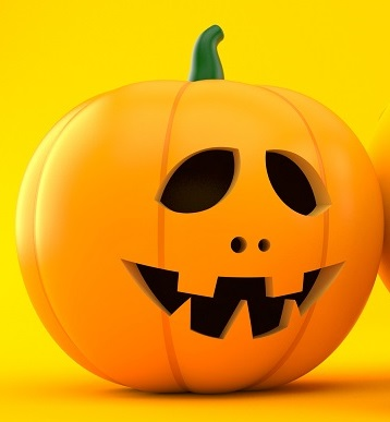 Savings background with jack o'lantern